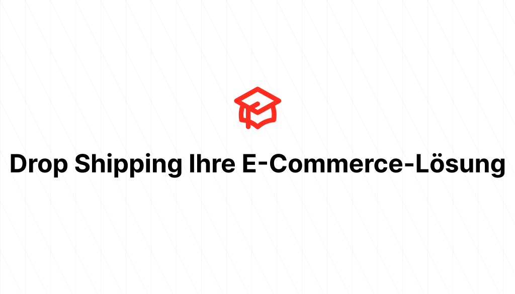 Drop Shipping Ihre E-Commerce-Lösung