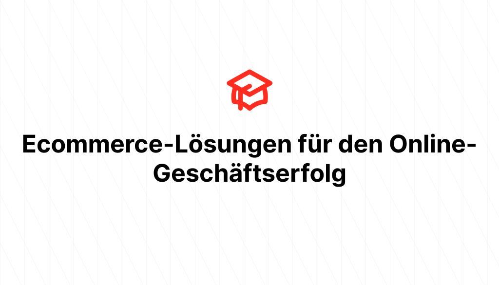 Ecommerce-Lösungen für den Online-Geschäftserfolg