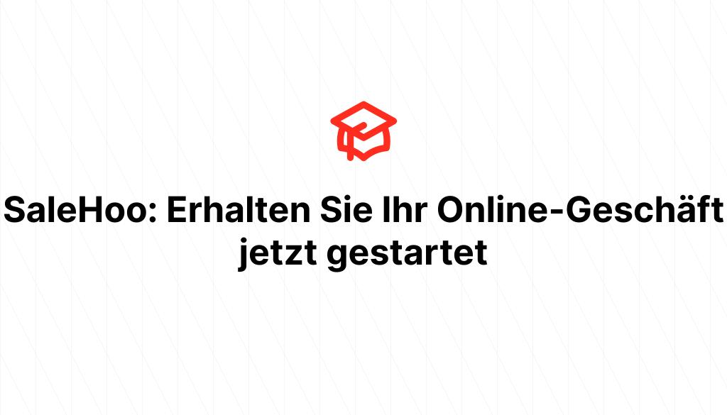 SaleHoo: Erhalten Sie Ihr Online-Geschäft jetzt gestartet